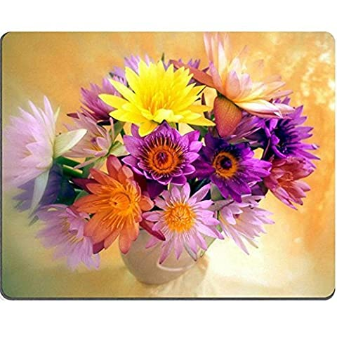 Gaming Mouse Pad Oblong Shaped Colorful Chrysanthemum Bouquet Personalized Mouse Mat Design Natural Eco Rubber Durable Computer Desk Stationery Accessories Mouse Pads For Gift by D'S 2016