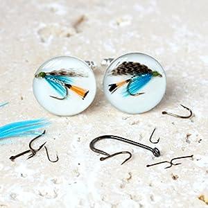 Fliegenfischen Manschettenknöpfe