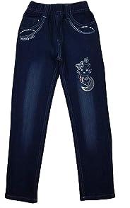 Girls Fashion Bequeme Mädchen Jeans, Stretchjeans, M89e