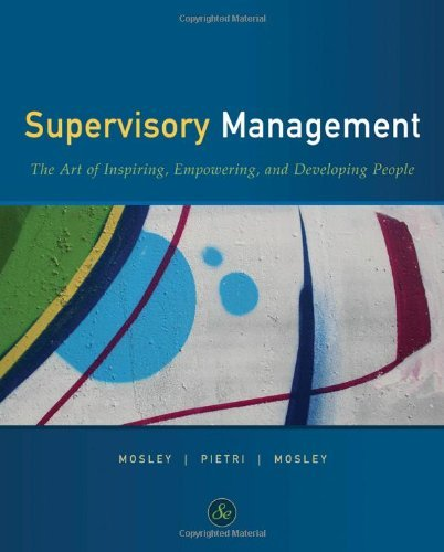 Supervisory Management (Available Titles CourseMate) by Donald C. Mosley (2010-01-25)
