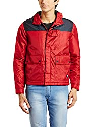 Lee Mens Synthetic Jacket (8907222741099_L18802MBCZ1600M_Medium_Red)