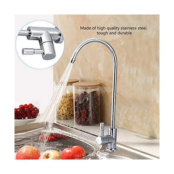 Zerodis Grifo ósmosis inversa de Fregadero 1/4»,para Sistemas Osmosis Inversa Filtración del Agua