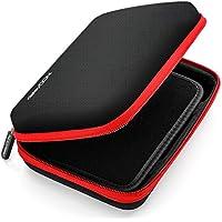 deleyCON Navi Tasche / Navi Case / Tasche für Navigationsgeräte - 6 Zoll & 6,2 Zoll (17x12x4,5cm) - Robust & Stoßsicher - 1 Innenfach - Schwarz/Rot