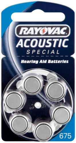 Cellule apparecchi acustici–Varta/Rayovac Acoustic Special V 6756-BL (PR44/HA675) Rayovac Special