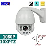 """SW Caméra Caméra de vidéosurveillance IP PTZ HD 1080p avec zoom optique x10 4,5""""/vision nocturne/dôme PTZ/IP vitesse moyenne"""