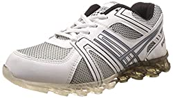 Steemo Men's Black and White Running Shoes - 9 UK/India (43 EU)(STM1023)