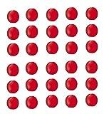 30x Magnete Ø 24mm, Haftmagnete für Whiteboard, Kühlschrankmagnet, Magnettafel, Magnetwand, Magnet Rund, Rot