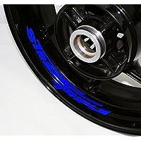 EUFBA Triumph Street triple v2 Motorradfelge Aufkleber Aufkleber Streifen Gloss Blue