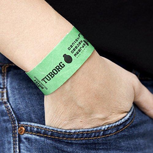Tyvek Einlassbänder und Kontrollbänder Silber 500 Stück/Eignen sich als Partybänder & Eintrittsbänder für Party, Konzerte und sonstige Events