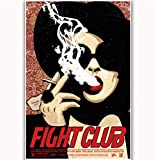 NOVELOVE Immagine di Arte della Parete Fight Club 1999 Classic Fighting Movie Poster Stampa su Tela Senza Cornice 40 * 60cm