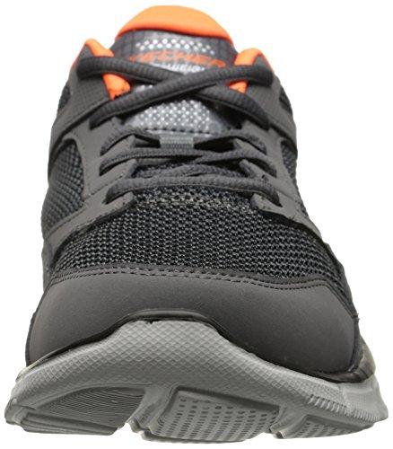 Skechers - Equalizer Game Point, Baskets Da Uomo Gris / Orange