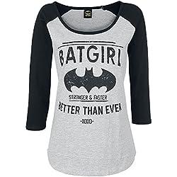 Camiseta de Batgirl - Manga larga Mujer gris/negro S