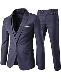 Cloudstyle Traje suit hombre 3 piezas chaqueta chaleco pantalón traje al  estilo occidental 2b7b7ff132c