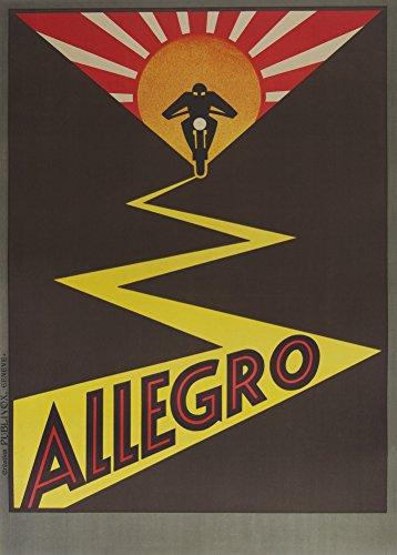 Vintage Motorräder Allegro Motorräder, Schweiz Kunstdruck 250gsm, Hochglanz, A3, vervielfältigtes Poster (Britische Vintage Motorräder)
