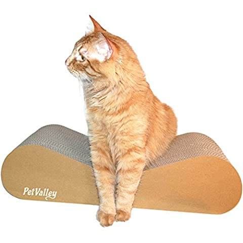 Cat scratcher lounger | 100% Made in Italy | Cardboard Design Product | Purrfect for lounging and play | Gym, scratcher and comfy perch | Fully recyclable | A great alternative to a sisal scratching post |