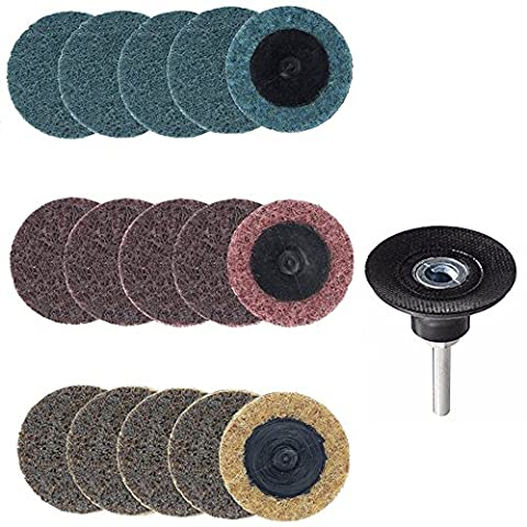 Yakamoz 15pcs 2 Inch Roll Lock Surface Conditioning Sanding Disc