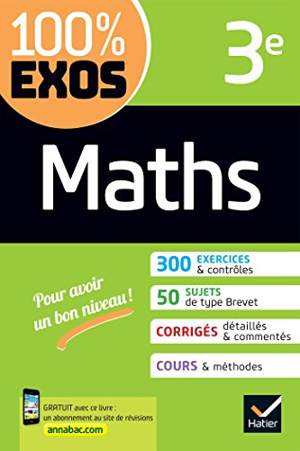 Maths 3e : exercices résolus (100% Exos)