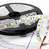 Kebinfen® 16.4ft(5m) SMD 5050 Luce Bianca Naturale Luci LED Striscia Flessibile 4000K Non-impermeabile 300LEDs/Roll Luce Striscia LED Luce a nastro multifunzionale a LED