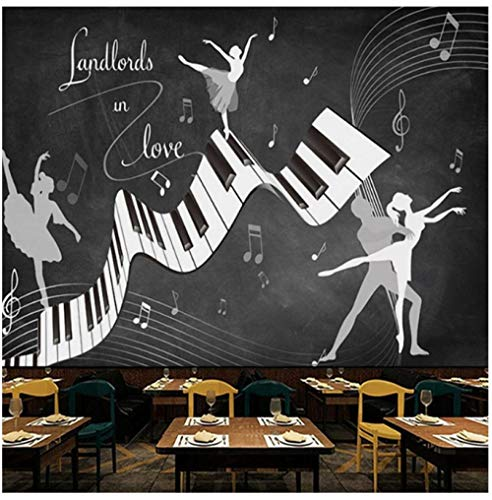Gwrdnjpjc Fototapete Retro Vintage Ballett Kostüm 3D Wand Wohnzimmer Sofa Tv Hintergrund Wand Wasserdicht Fresko 3D Tapete @ 320X240Cm (Unsere Stadt Kostüm Designs)