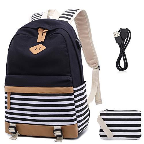73f298e3cd Netchain Tela Zaino Scuola Ragazza Donna Zainetto Vintage Canvas Backpack  Casual Daypacks per 15.6in Laptop