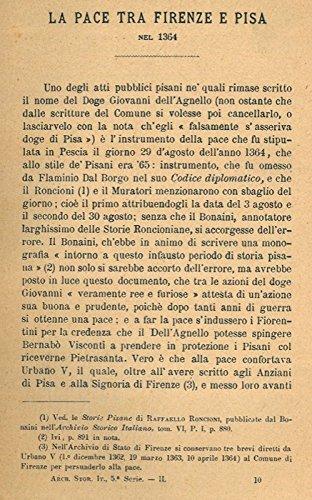 La pace tra Firenze e Pisa nel 1364.