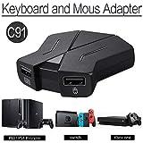 C91 Adaptateur clavier et souris avec jeu vidéo pour PC, PS4, Xbox One, Switch, PS3