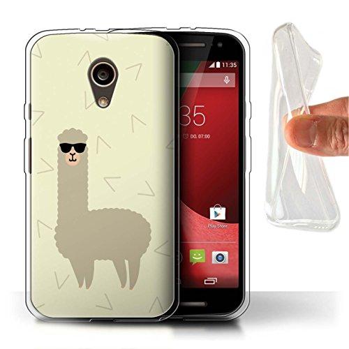 Stuff4® Gel TPU Hülle/Case für Motorola Moto G (2014) / Coole Sonnenbrille Muster/Karikatur Alpaka Kollektion
