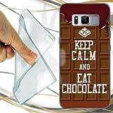 CUSTODIA Cover Case Keep Calm Choco per Samsung Galaxy S8 Plus