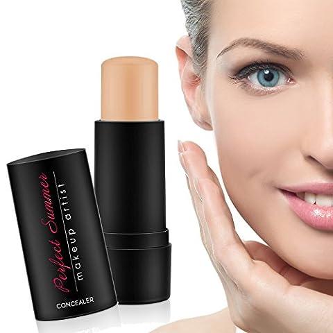 Face Makeup Concealer Stick Medium - Perfect Summer FT001 (2017 New Desgin) Mineral Eye Concealer Light Waterproof Makeup Long Lasting Shade 7g