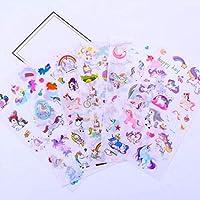 yunkanda 6Pcs Unicorn Sticker Cute Anime Children