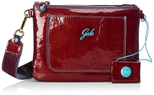GABS -NALA S NKNK, Borsa a Tracolla Donna, 3x16x23 cm Rosso (Red Wine)