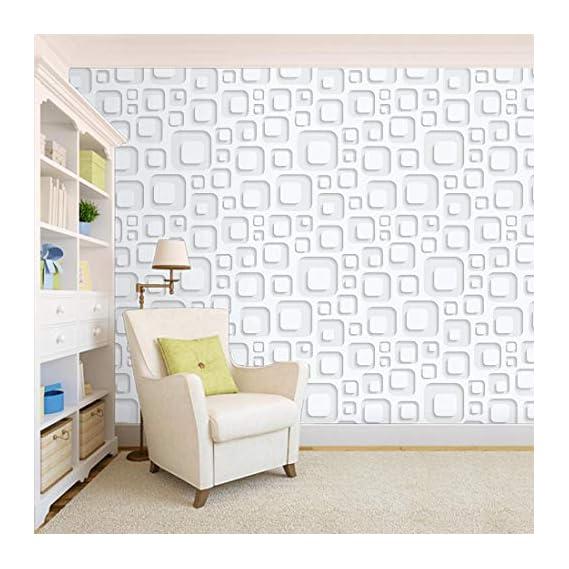 100Yellow? 3D Square Pattern Self Adhesive Peel And Stick Waterproof Hd Wallpaper (Pvc Vinyl, 44 Sqft, Multicolour)
