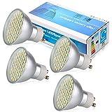 ELINKUME 4X GU10 5W warmweiss 48 SMD 2835 LED Lampen warmweiß 400-420LM, AC195-240V
