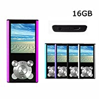 Crillutar 16GB MP3 Player MP4 Player Internal Memory MP3 Music Media Player Portable Video Player Music Player Voice Recording Player Media,with Photo Viewer???Supporting Games, and E-Book Reader(Pink)