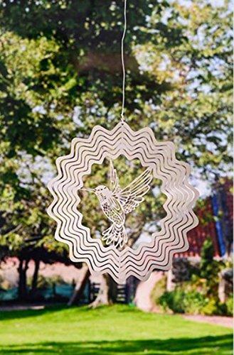 Metall Hohl Dreidimensionale Windspiele Windspiel Ornamente Kristall Glänzend Handwerk,2 (2-licht-anhänger Kristall)