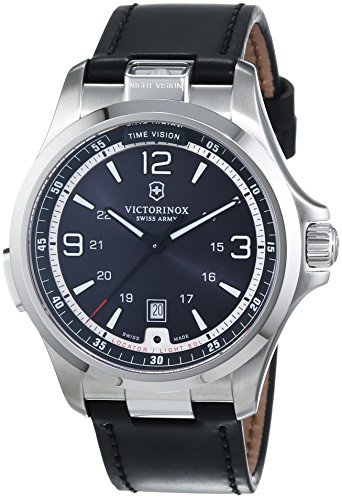 Victorinox-Swiss-Army-Mens-Quartz-Watch-with-Black-Dial-Analogue-Display-and-Gold-Leather-241664