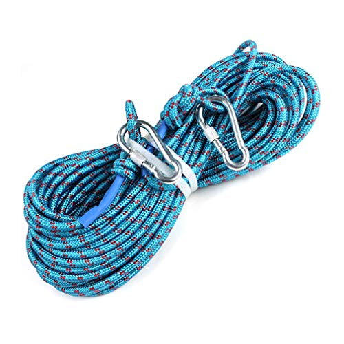 BAI-Fine Statische Kletter-Rope 8mm Durchmesser Stahldraht Outdoor Climbing Rope Wear WBestehant Rope Survival Equipment Supplies,20M