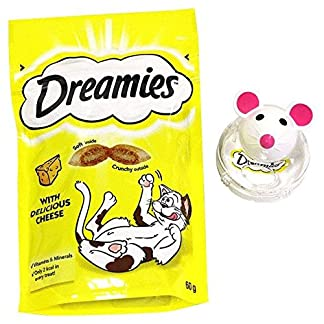 Dreamies Snacky Mouse Cat Toy Cheese 60g 8