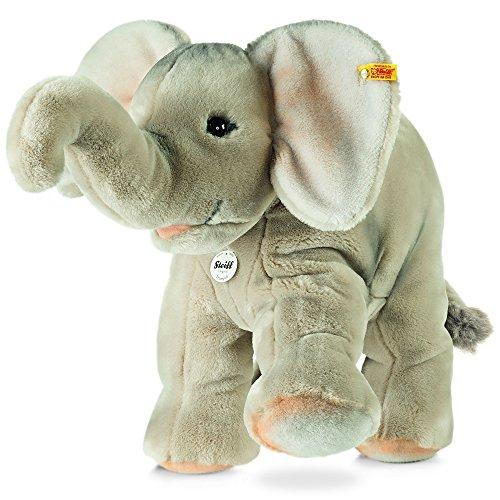 Steiff 064043 - Trampili Elefant - stehend, Plüschtier, 45 cm, grau