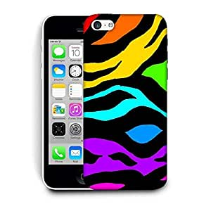 Snoogg Colorful Zebra Skin Designer Protective Back Case Cover For IPHONE 5C