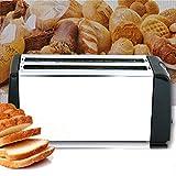 SMCOOL 4 Slice Toaster in Acciaio Inossidabile Tostapane Extra Largo Lunghi dello Slot con 6 Browning Impostazione, Briciola Vassoio Estraibile, 1300W