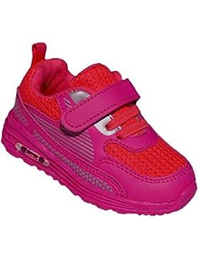 GIBRA® Kinder Sportschuhe, mit Klettverschluss und Gummizug, pink/rot, Gr. 25-36