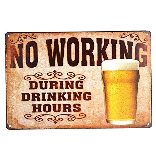 Neuheit sparen Wasser trinken Bier TIN SIGN Bar Metal Pub Wand Dekor Shop Wall Bilder für Wohnzimmer - Bier-108 (Wasser Sparen, Bier Trinken)