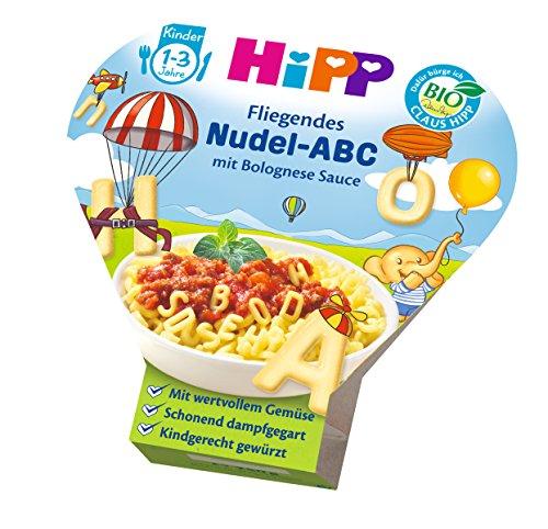 HiPP Kinder-Nudel-Spaß Fliegendes ABC in Bolognese-Sauce, 6er Pack (6 x 250 g) - Machen Nudeln