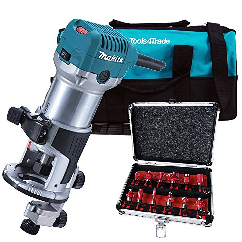 Makita RT0700CX4 1/4inch Router / Trimmer 110V with 12 Piece