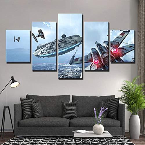 Yyjyxd Movie Millennium gedruckt 5 Stück Leinwand MalereiRaumschiff Bild Wandbilder für Wohnzimmer Poster und Drucke-8 x 14/18/22inch,Without frame (8 Full Halloween Movie)