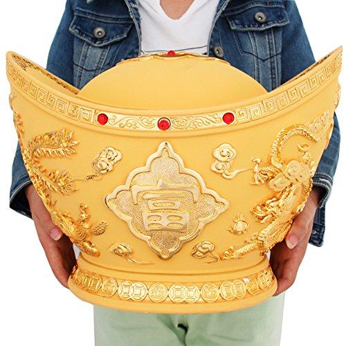 Glück goldene dekoration große münze goldene sparschwein piggy bank-B 30x22x23cm(12x9x9inch)