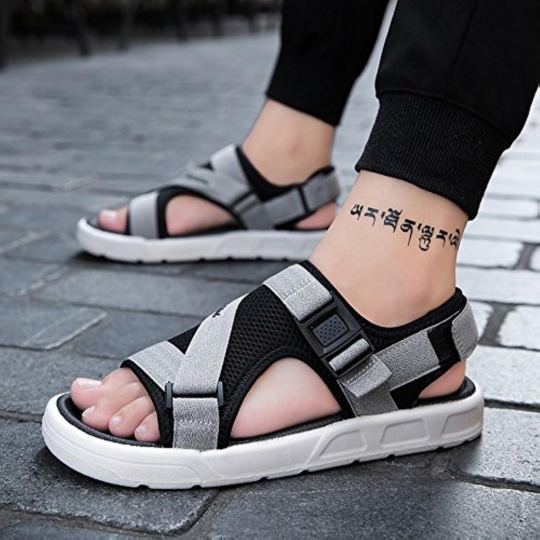 YQQ Lässige Schuhe Strandschuhe Ferienschuhe Jugendsandalen Mode Schuhe Männer Schuhe Junge Sommer  Rutschfest