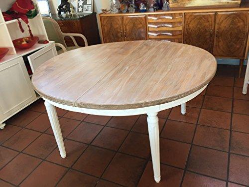 Tavolo Ovale Allungabile in legno massello di TEAK 115x135x78 ...