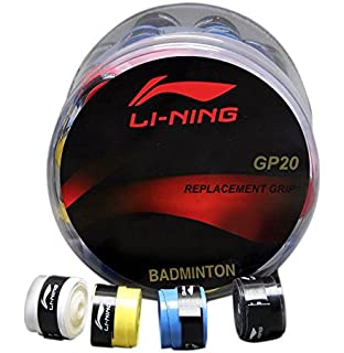 Li ning Badminton Replacement Grip GP20  Pack of 60 Grips    Assorted